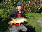 10 pound mirror carp caught at dandys ford on sunday the 18th sep by rowan parker.