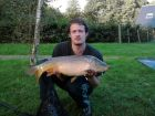 14 pound mirror carp caught at dandys ford on sunday the 18th sept caught by lawrence parker.
